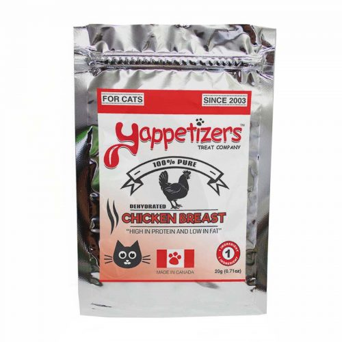 Yappetizers Cat Treats – Dehydrated Chicken Breasts