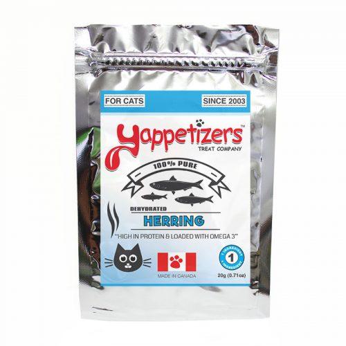 Yappetizers Cat Treats – Dehydrated Wild Herring