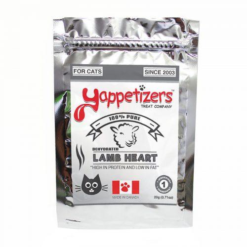 Yappetizers Cat Treats – Dehydrated Lamb Heart