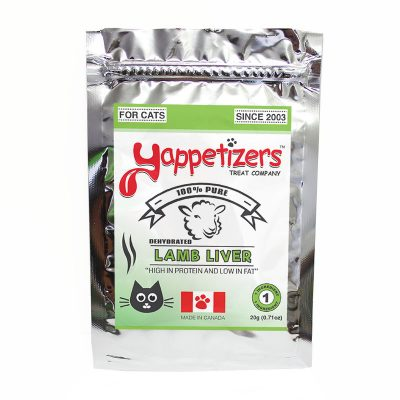 Yappetizers Cat Treats – Dehydrated Lamb Liver