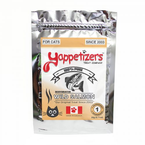 Yappetizers Cat Treats – Dehydrated Wild Salmon