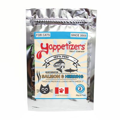 Yappetizers Cat Treats – Dehydrated Wild Salmon & Herring