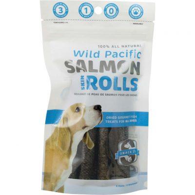 Snack 21 – Wild Pacific Salmon Skin Rolls (6 Rolls)