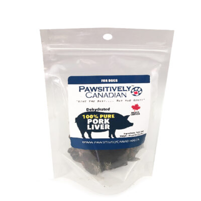 PawsitivelyCanadian Dehydrated Pork Liver (85g)